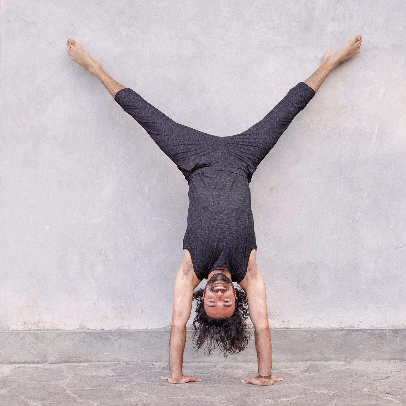 Yogahose Ali - Anthracite Melange | Yogahosen | Herren ...