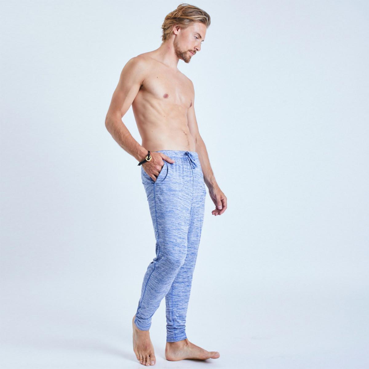 dharma pants von ohmme - blue | yogahosen | herren | yoga