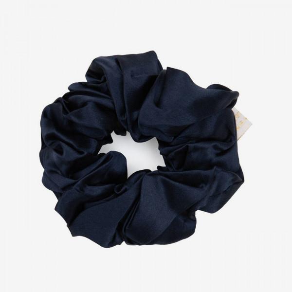 Haargummi Scrunchie Silk - Navy