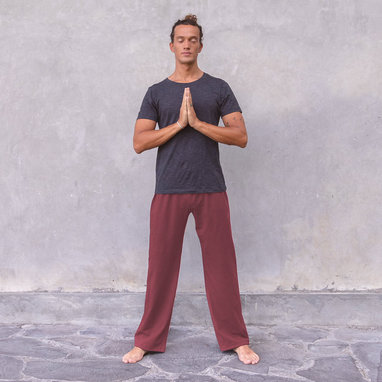 yogahose carlos - burgundy | yogahosen | herren | yoga