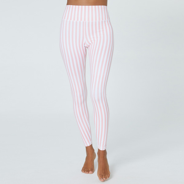 2a994b6ba3 Perfect High Waist Leggings by Spiritual Gangster - Carnation Stripe Print  | Yoga Leggings | Women's Clothing | YOGA CLOTHES | greenyogashop