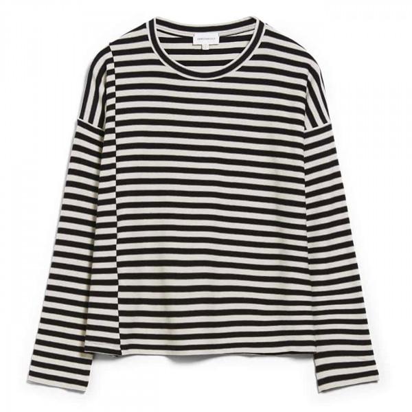 Langarmshirt Palinaa Knitted Stripe - Kitt Black