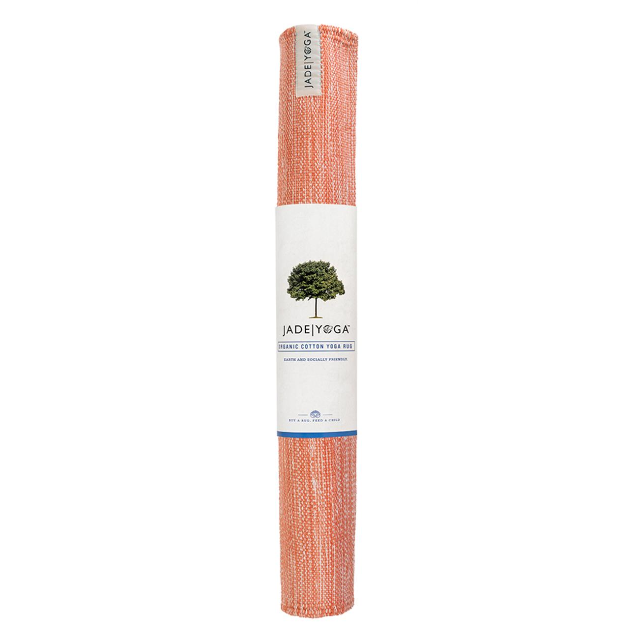Mysore Yogateppich Bio Baumwolle Anatoo Orange Jade