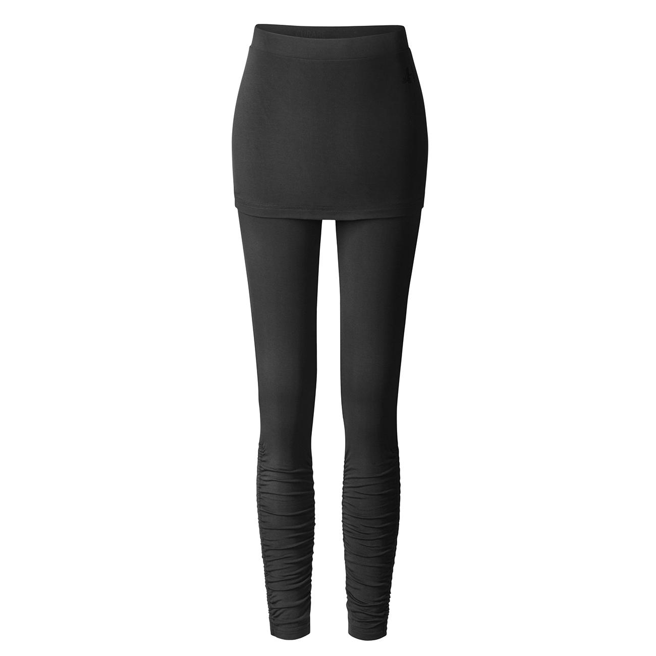 leggings skirt von curare black yoga leggings damen. Black Bedroom Furniture Sets. Home Design Ideas